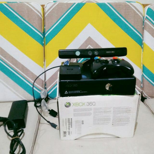 Xbox 360 slim 4gb + kinnect sudah RGH second + HDD 500Gb