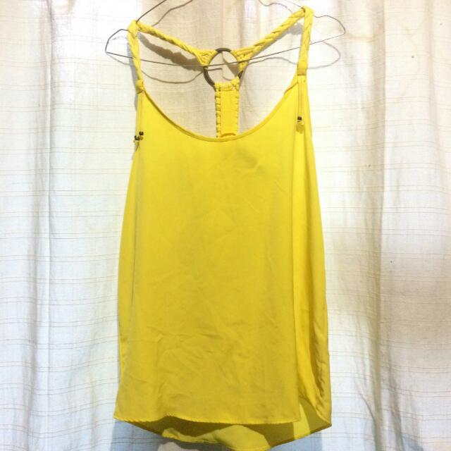 ZARA BASIC Yellow Top