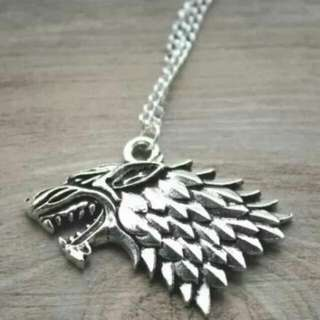 Game Of Thrones Stark Direwolf Necklace