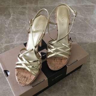 Gold Strape Heels