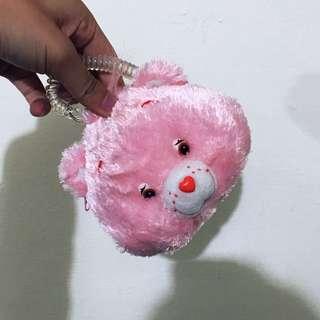 彩虹愛心粉紅小熊 悠遊卡零錢包👛