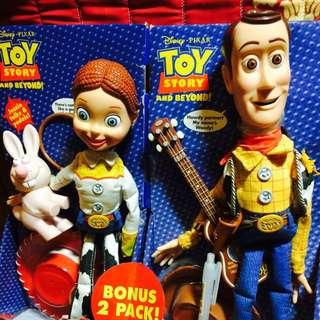 玩具總動員 絕版 發聲 公仔 胡迪 翠絲