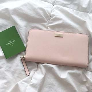 Authentic Kate Spade Saffanio Leather Zippy Wallet