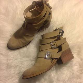 Zara Woman Cut Out Boots Size 37