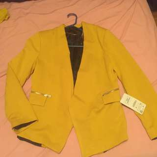 Zara Blazer Mustard Color