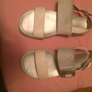 Call It Spring Flip Flop White N Silver Color.
