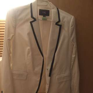 Jacob Chic Jacket - Size M - White
