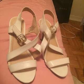 Nine West White Sandal