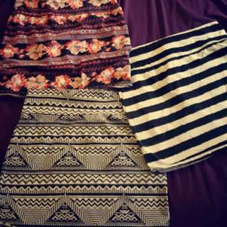 Stretchy Skirts, All Size 14. $10 For All 3