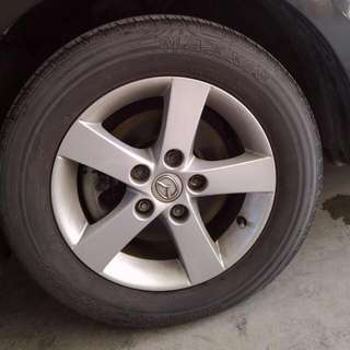 2013年new Mazda 3 (輪框含胎)*4