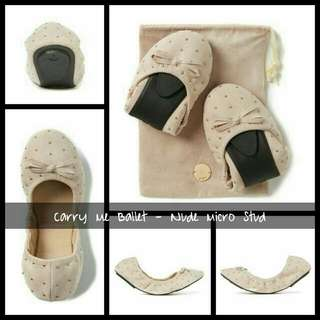 Carry Me Ballet - Nude Micro Studs Brand: Rubi by Cotton On Mall Price: 650 For Sale: 450 Available: Size 36 - 3 items