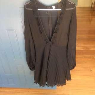 Amazing Black Sheer Top Dress