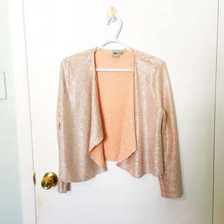 Rose gold cardigan
