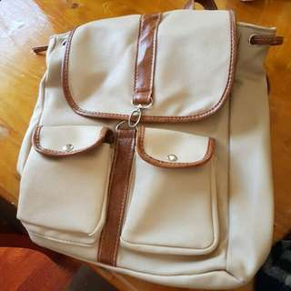 Korean Style Leather Backpack
