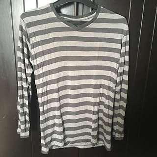 Kaos Tangan Panjang V Neck Not Sweater