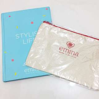 (NEW) Emina Makeup Pouch With Free Stylish Memo Book