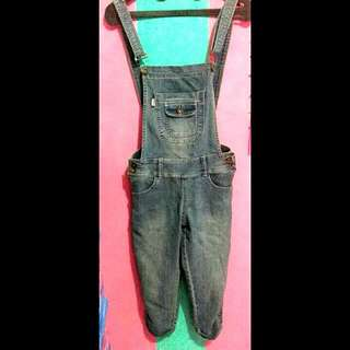 Overall Jeans Selutut