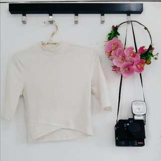 Forever 21 Cropped Ribbed Turtle Neck