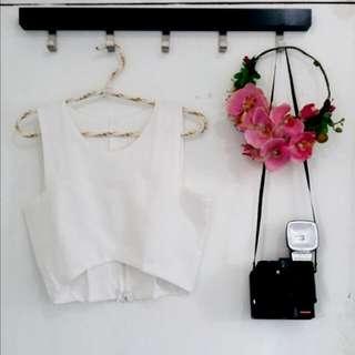 Zara Inspired White Crop Top