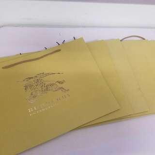 Original Burberry Paper Bags 7pcs.