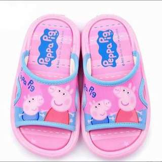 【現貨】正版 peppa pig 粉紅豬小妹 佩佩豬 防滑 室外拖鞋