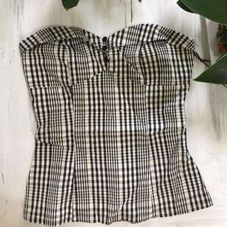 Wish Black And White Top Size 8