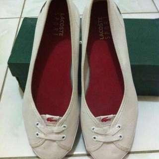 Lacoste White Ballerinas Shoes