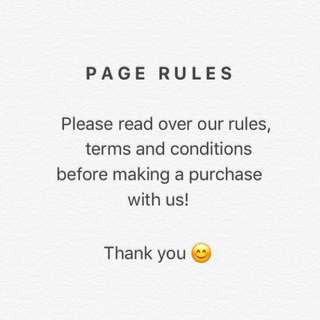 Please Read Over Our Page Rules 😊