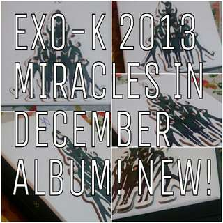 OFFICIAL BRAND NEW EXO K KPOP ALBUM MIRACLES IN DECEMBER KOREAN VERSION WITH PHOTOCARD PERFECT CONDITIONS 엑소 12월의 기적