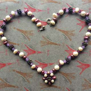 Purple Fresh Water Pearl Necklace