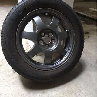 Used 16 inch rims with Michelin XM2 tyres