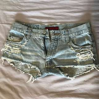 Ripped Booty Shorts