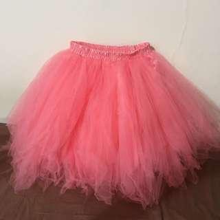 蓬蓬短紗裙