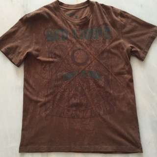 Brown Tee By Red Liquid