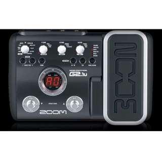 Zoom G2.1u Multi-effects Guitar Pedal