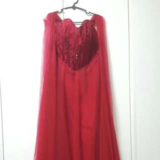 Red Corset Gown