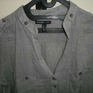 MNG grey blouse