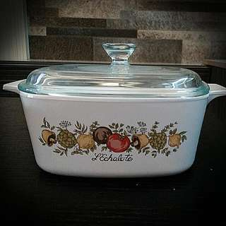 Spice Of Life 1.5litres Corningware Casserole With Pyrex Glass Lid