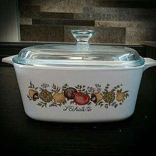 Spice Of Life 1.5 Litres Corningware Casserole With Pyrex Glass Lids