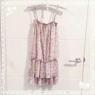💮 Pink Floral Summer Dress 💟