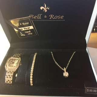 Bell And Rose Gift Set Brand New