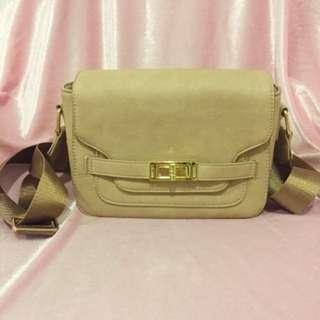 Zalora Cream Sling Bag