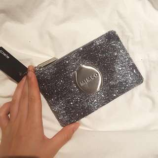 ○on hold○MIMCO Small Silver Metallic Sparks Pouch (Genuine)