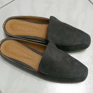 【全新】cozyfee_Bloafer麂皮半包鞋/ 25