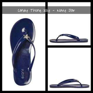 Cotton On Candy Thong Jelly - Navy Star Brand: Cotton On Mall Price:  400 For Sale: 250 Available: Size 36 - 3 items  Size 37 - 2 items