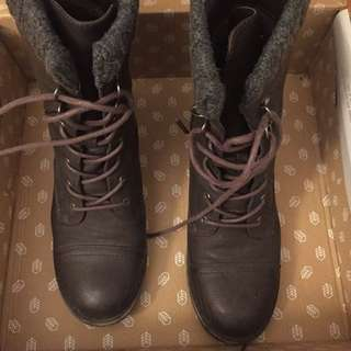Call It Spring Brown Boots Size 8