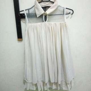 blouse cream pastel