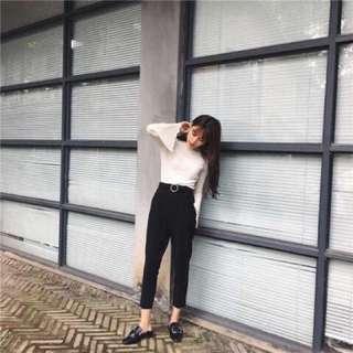 秋季韓國高腰寬鬆顯瘦西裝褲
