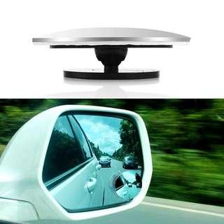 Car Rear view Convex 1pc Mirror Wide Angle Round Convex Mirror 360 Degrees Rotating Wide Angle Blind Spot Auto Exterior Accessory