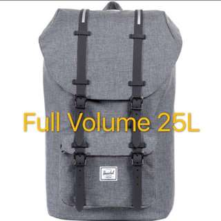 [INSTOCK] Herschel Little America Full Volume, Grey/Black